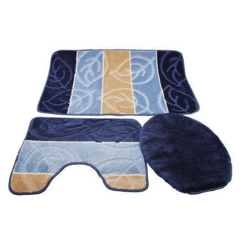 Bath Rugs And Toilet Seat Covers Brilliant Blue