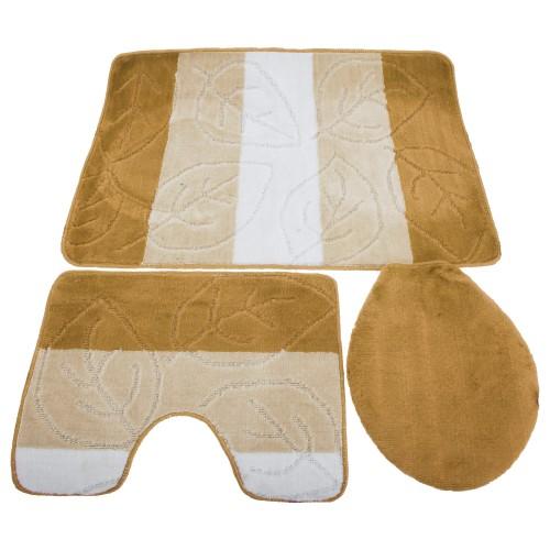 Amazing  Pattern Design Bath Pedestal Amp Toilet Seat Cover Bathroom Mat Set
