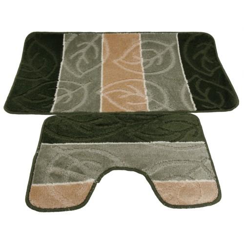 ensemble tapis de bain et contour de wc 5 couleurs ebay. Black Bedroom Furniture Sets. Home Design Ideas