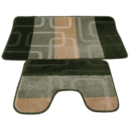 ensemble tapis de bain et contour de wc 5 couleurs ebay. Black Bedroom Furniture Sets. Home Design Ideas