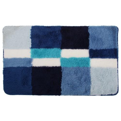 Blocks Square Patterned Non Slip Bath Shower Mat Bathroom