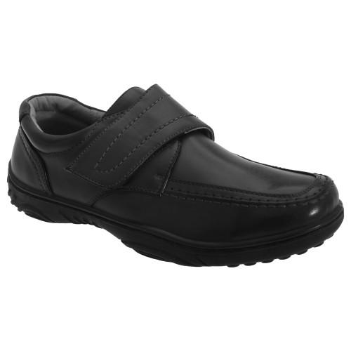 Smart Uns Herren Schuhe mit Klettverschluss, Leder