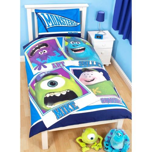 Set biancheria da letto per bambini immagine mostri disney reversibile ebay - Biancheria letto disney ...