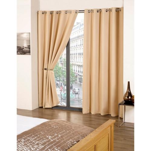 blackout thermo vorhang set cali mit ringen ebay. Black Bedroom Furniture Sets. Home Design Ideas