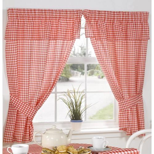 molly gingham vorhang mit volant kariert ebay. Black Bedroom Furniture Sets. Home Design Ideas