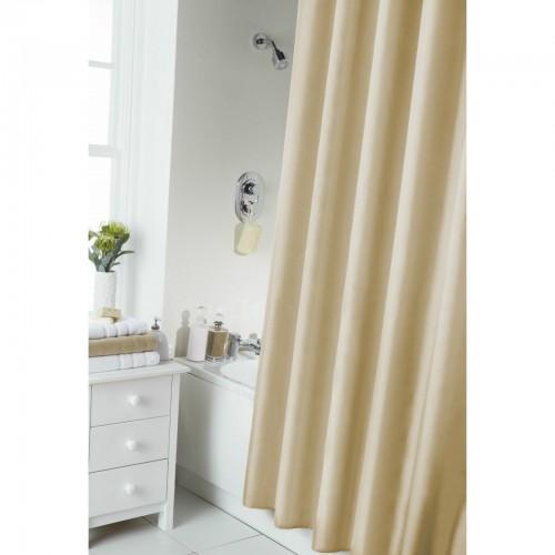 Rideau de douche uni avec anneaux ebay for Laver rideau de douche plastique machine