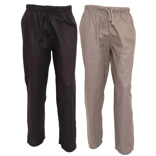 Buy mens loungewear - Mens Plain Long Woven Night / Lounge Wear Pyjama Bottoms/Trousers (Pac
