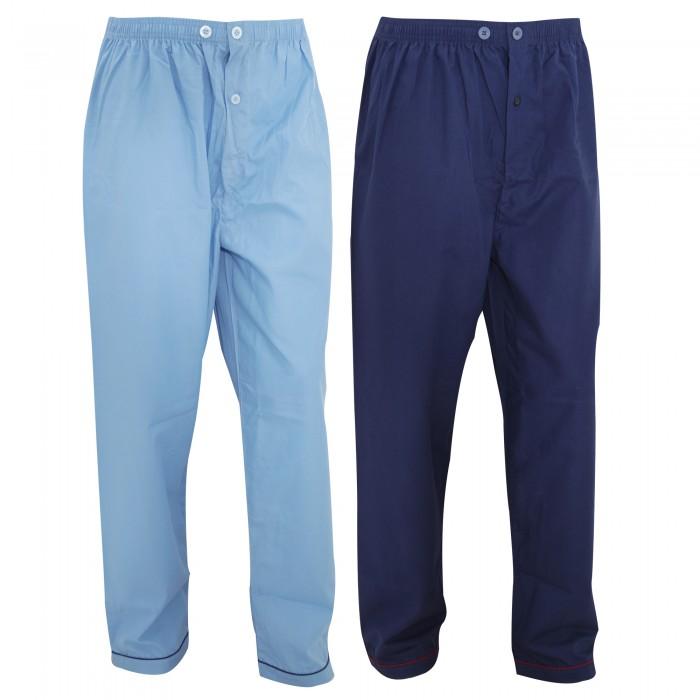 herren schlafanzughose pyjama hose lang 2er pack ebay. Black Bedroom Furniture Sets. Home Design Ideas