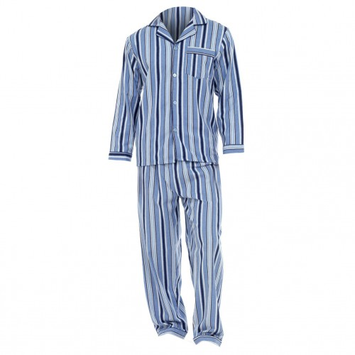 herren flanell schlafanzug flanell pyjama langarm ebay. Black Bedroom Furniture Sets. Home Design Ideas