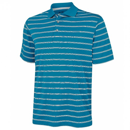 adidas golf herren polo shirt mit streifen kurzarm ebay. Black Bedroom Furniture Sets. Home Design Ideas