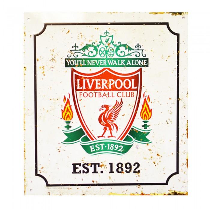 Liverpool fc retro zimmer schild mit club wappen ebay - Retro zimmer ...