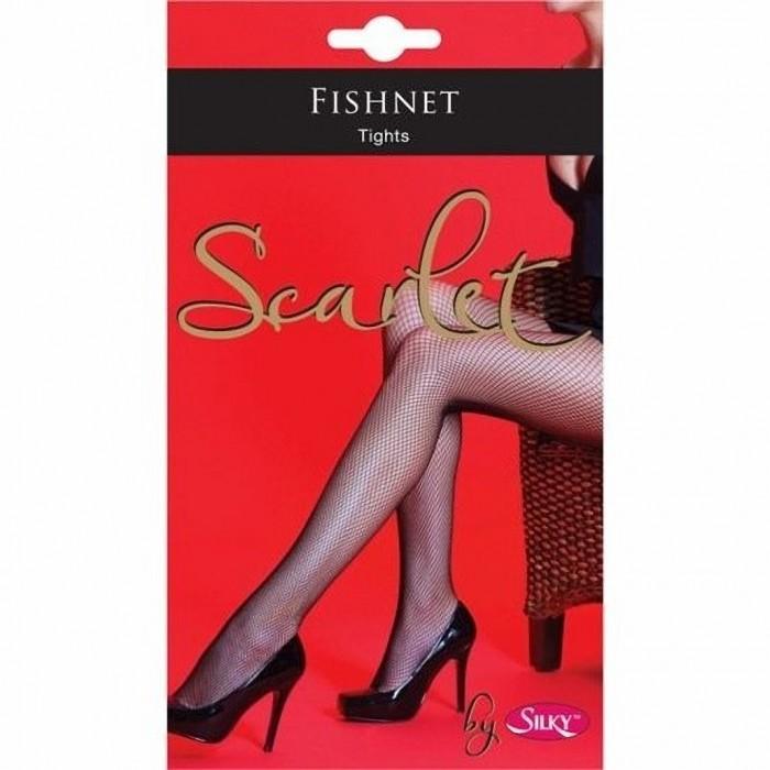 Silky Scarlet - Collants résille (1 paire) - Femme (M-XL)