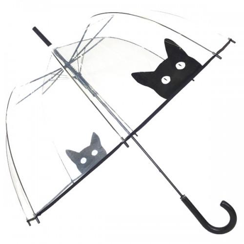damen kuppelschirm regenschirm mit katzen hunde. Black Bedroom Furniture Sets. Home Design Ideas