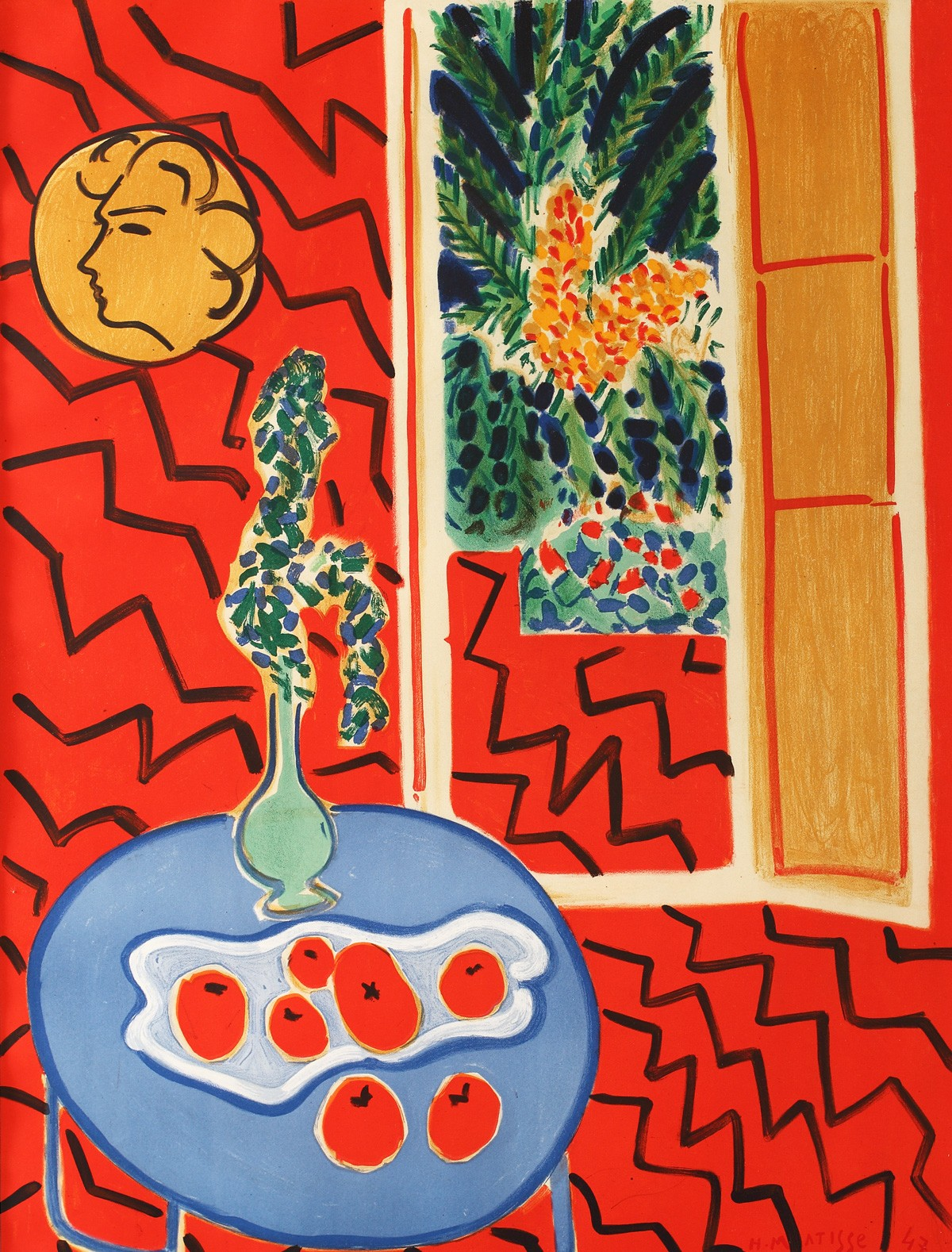 Lot 5 henri matisse int rieur rouge lavacow online for Interieur rouge matisse