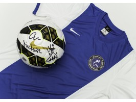 Nike T-shirt from the Gheorghe Hagi Football Academy, signed on the back by Gheorghe Hagi