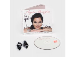 Brooch worn by Angela Gheorghiu and Special CD edition, with signature