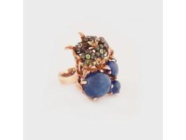 Impressive Sapphire Silver Ring