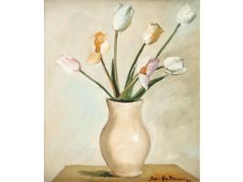 Tulips on White Background (Lalele pe Fond Alb)