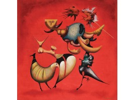 Hummingbirds in the Flaming Sky (Colibri pe Cerul Înflăcărat)