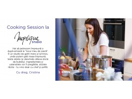Cooking Session with Cristina Mazilu at Mazilique Studio
