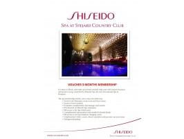 Trei Luni de Relaxare la Shiseido Spa