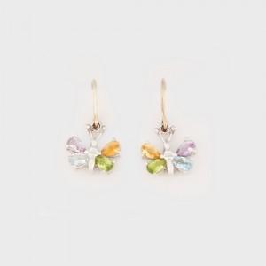 Butterfly-shaped Silver Earrings