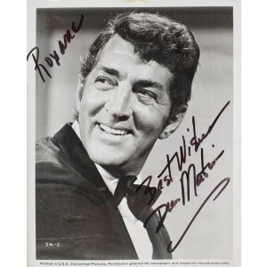 Dean Martin, with original autograph and dedication