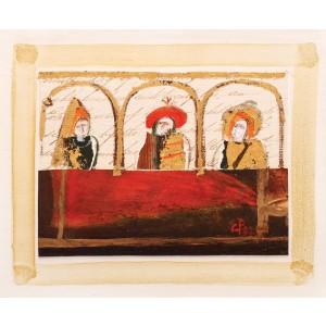 Lojă cu personaje medievale (Lodge)