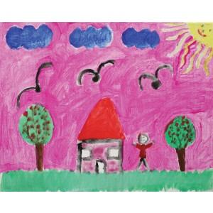 Casa spre care fug doi copaci (Alexandra, 7 ani)