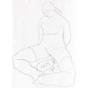 Female Nude Sitting (Nud de Femeie șezând)