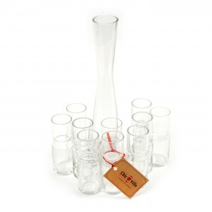 Set of Ten Glasses and Decanter by Chic Ville