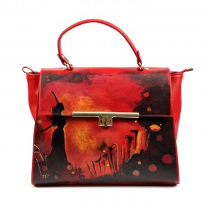 Manually Painted Lyria Adelle Infinito Handbag