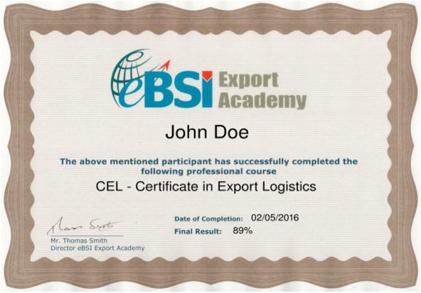EBSI Training Portal – Logistics Clerk Job Description
