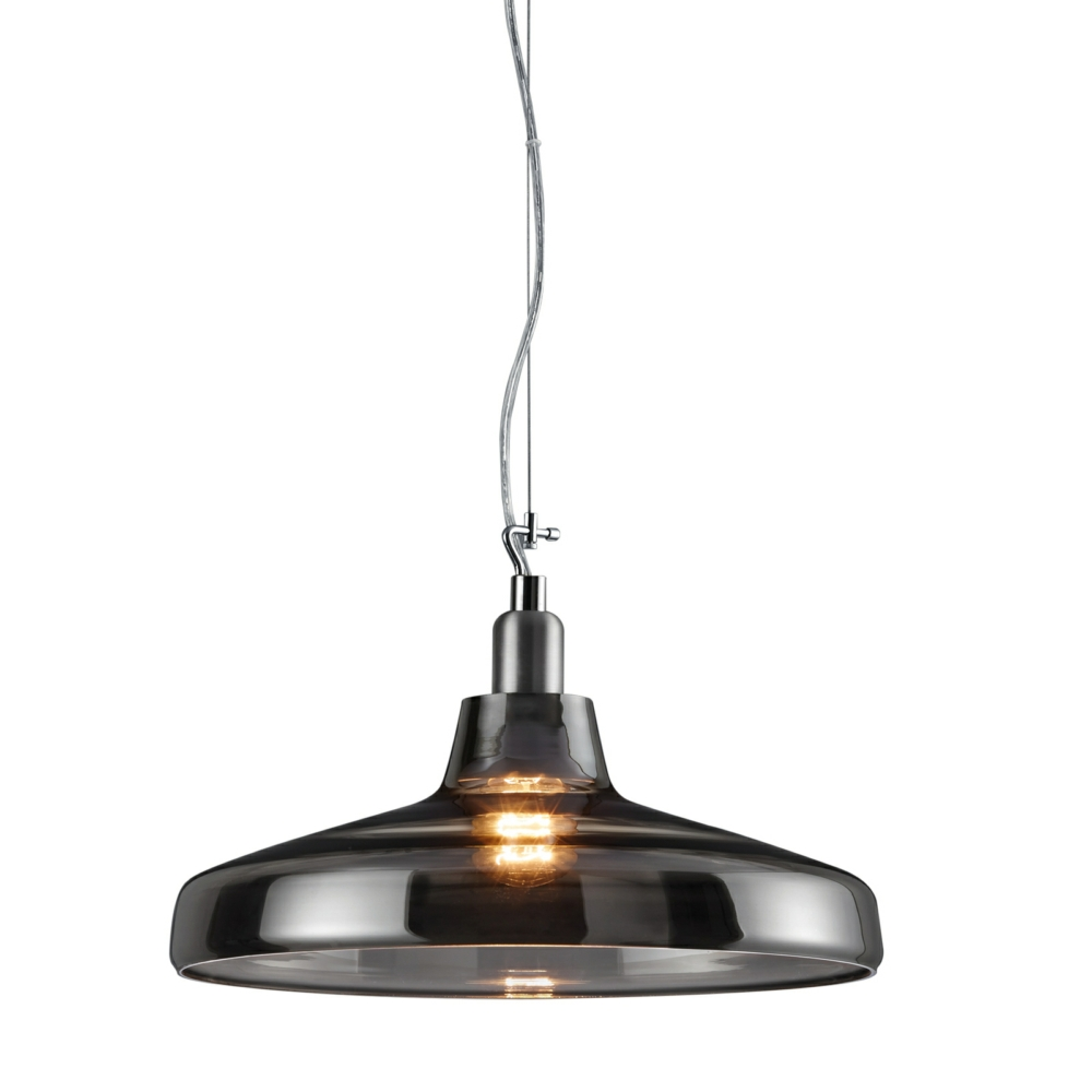 Dover Pendant Ceiling Light Smoked Glass Body
