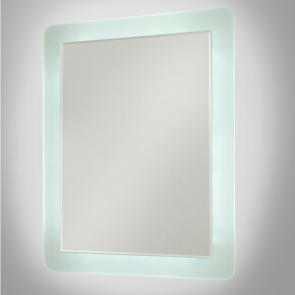 Rectangular Led Illuminated Bathroom Mirror