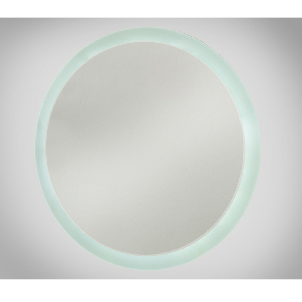 Round LED Illuminated Bathroom Mirror