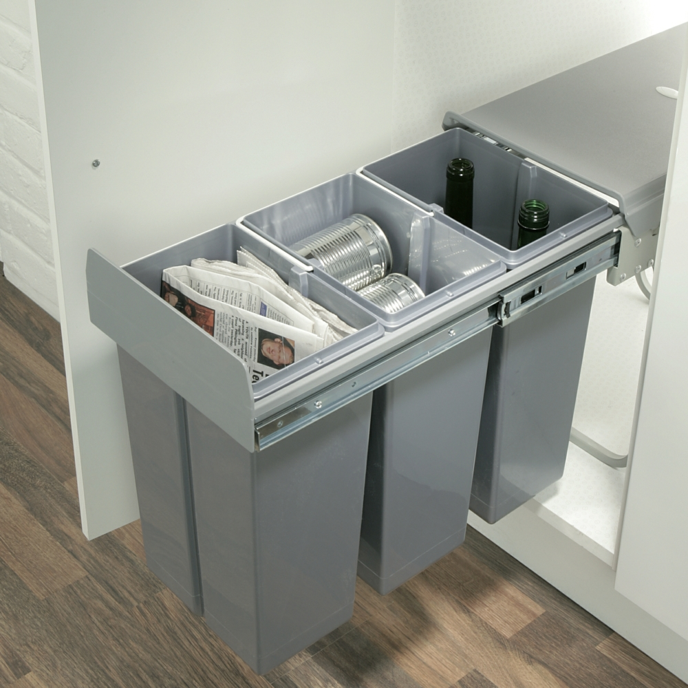 Hafele Pull Out Waste Bin 30 Litres