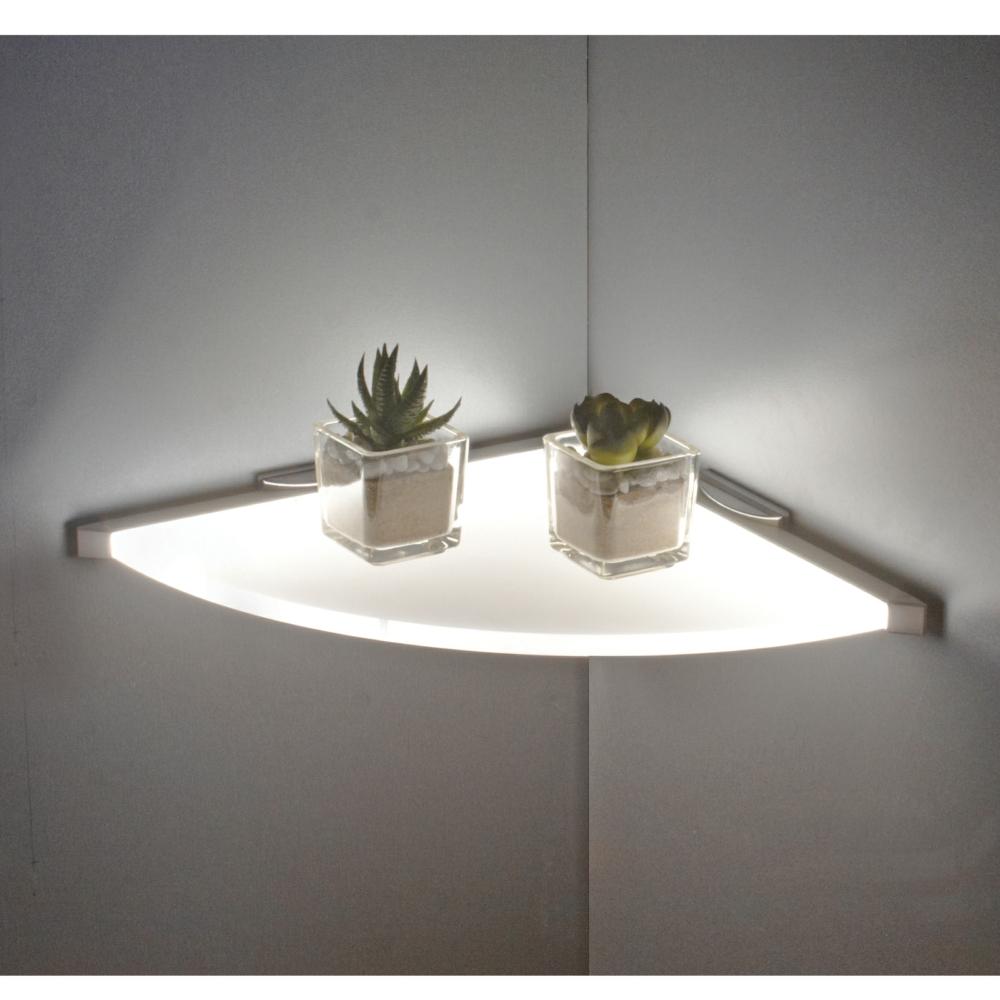 Sirius LED Glass Corner Shelf Light