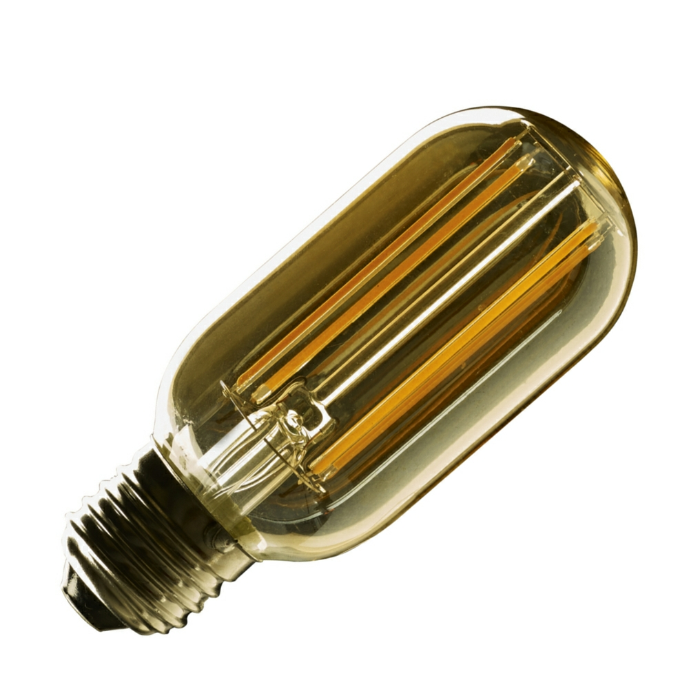 e27 vintage tubular t45 led filament bulb. Black Bedroom Furniture Sets. Home Design Ideas