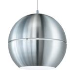 Globe Pendant Light Shades - Brushed Aluminium Metal Body