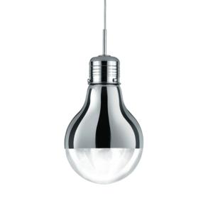 Edison Pendant Ceiling Light, chrome/clear