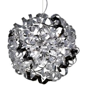 Pinwheel Pendant Ceiling Light, Chrome Metal Body