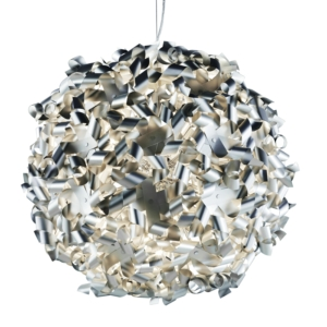 Global Pendant Ceiling Light, Crystal And Chrome Body