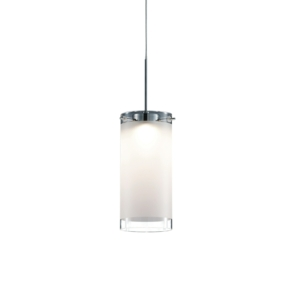 Candle LED Pendant Ceiling Light, Frosted And Clear Glass