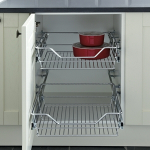 Chrome Pull-out Wire Basket Set