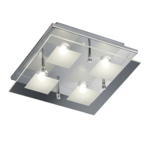 4 Light Contemporary Glass Ceiling Light