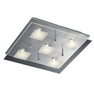 5 Light Contemporary Glass Ceiling Light