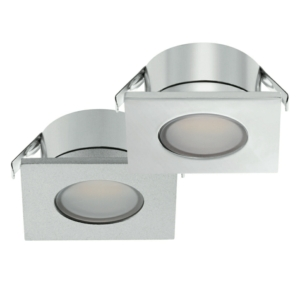 Loox 12V 2023 Square LED Recessed Downlight - Chrome Finish
