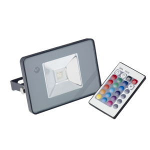 Denver - 10 Watt RGB Colour Changing Slim LED Flood Light
