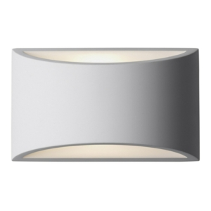 Aragon - Gypsum Curved LED Up/Down Wall Light